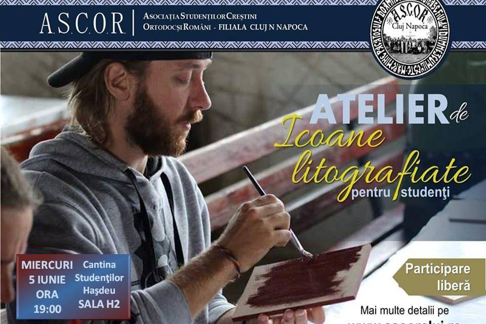 Atelier pentru studenți – Icoane litografiate pentru Parohia Stupini și parohia Ticu