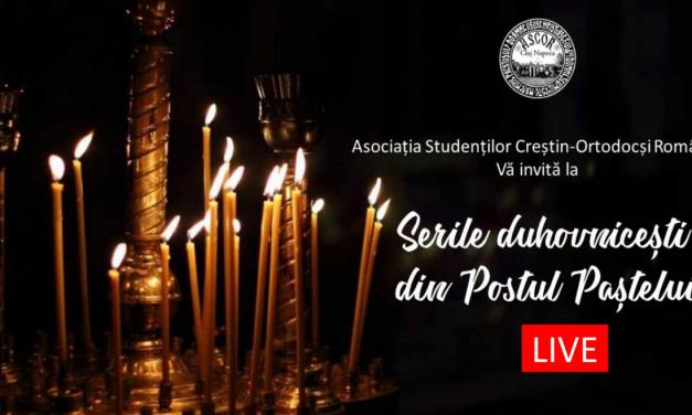 seri duhovnicești live, pe Facebook și YouTube