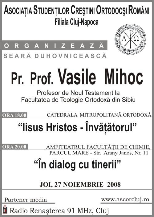 Parintele Vasile Mihoc, Seara Duhovniceasca